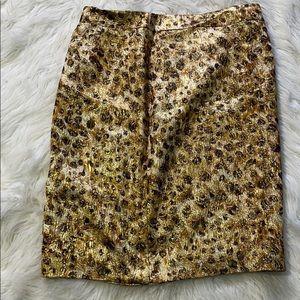 J crew collection animal print pencil skirt size 6